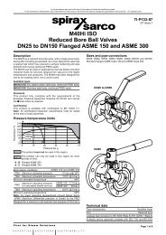 M40Hi ISO Reduced Bore Ball Valves DN25 to ... - Spirax Sarco