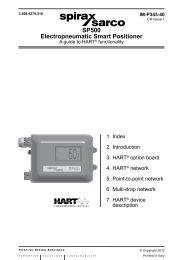 SP500 Electropneumatic Smart Positioner - Spirax Sarco