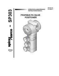 SP303 Profibus PA Valve Positioner - Spirax Sarco