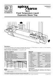 No.8 Fixed Temperature Liquid Expansion Steam Trap - Spirax Sarco