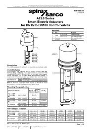 AEL6 Series Smart Electric Linear Actuators for DN15 ... - Spirax Sarco