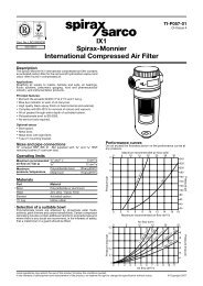 IXI Spirax-Monnier International Compressed Air Filter - Spirax Sarco