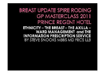 Breast cancer and ethnicity - Spire Healthcare