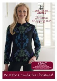 Christmas Shopping 2013 - Spirit of the Andes