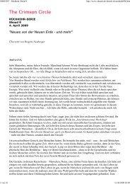 04.04.2009 Tobias: Neues von der Neuen Erde - und mehr - Spiru.de
