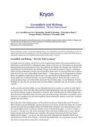 05.12.2004 Kryon: Gesundheit und Heilung - gechannelt ... - Spiru.de