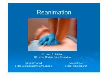 130106 Öffentlichkeitsvortrag Reanimation ... - Spital Einsiedeln