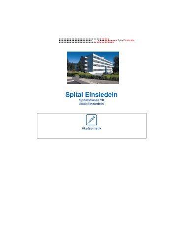 Qualitätsbericht 2010 - Spital Einsiedeln