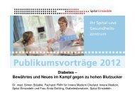 Öffentlichkeitsvortrag Diabetes - Spital Einsiedeln