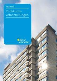 Publikumsveranstaltungen – Herbst 2012 - Spital Limmattal