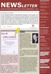 Newsletter Chirurgie Orthopädie 1/2012 - Spital Oberengadin