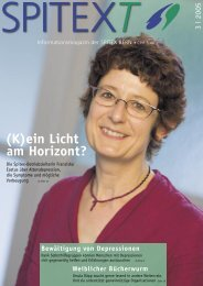 (K)ein Licht am Horizont? - SPITEX Bern