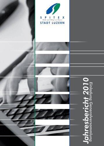 Jahresbericht 2010 - Spitex Luzern