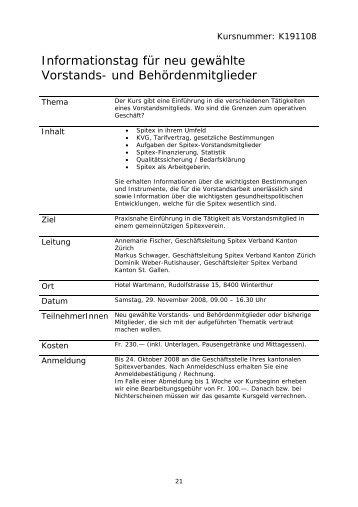Weitere Informationen... - Spitex Verband Kt. St. Gallen