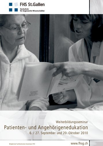 Patienten- und Angehörigenedukation - Spitex Verband Kt. St. Gallen