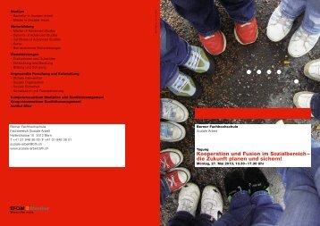 Kooperation und Fusion im Sozialbereich – die Zukunft planen und ...