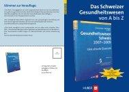 Das Schweizer Gesundheitswesen von A bis Z