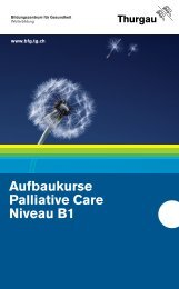 Aufbaukurse Palliative Care Niveau B1