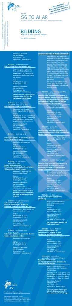 Ganzjahresprogramm - Spitex Verband Kt. St. Gallen
