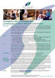 SwissAgeCare-2010 - Institut für Psychologie - Universität Bern