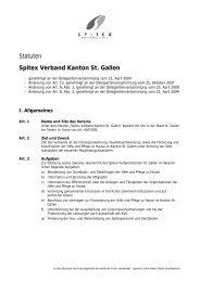Neue Statuten… - Spitex Verband Kt. St. Gallen