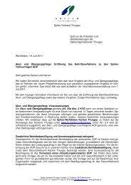 Spitex Verband Thurgau Geht an die Präsidien und ... - sitesystem