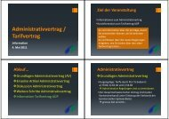 Administrativvertrag / Tarifvertrag - Spitex Verband Kt. St. Gallen