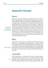 Supportive Therapie (Auszug) - Spitta