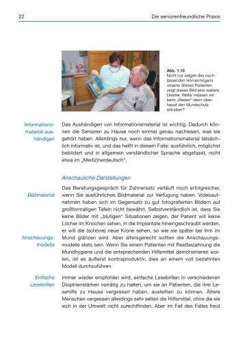 Die seniorenfreundliche Praxis – Arbeitsabläufe (Auszug) - Spitta