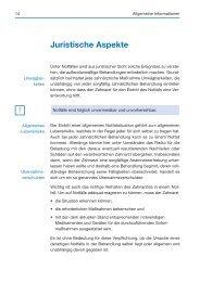 Juristische Aspekte - Spitta
