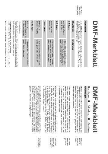 DMF-MerkblattGrundlagen DMF-Merkblatt - Spitta Verlag