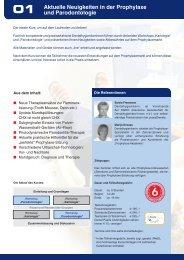 Aktuelle Neuigkeiten in der Prophylaxe und Parodontologie - Spitta