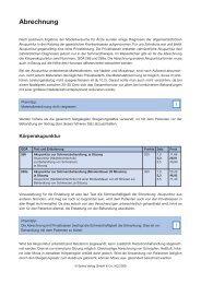 Weitere Informationen zur Abrechnung der ... - Spitta Verlag