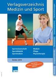 Verlagsverzeichnis Medizin und Sport - Spitta