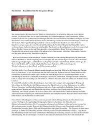 Parodontitis Krankheitsrisiko für den ganzen Körper Foto ...