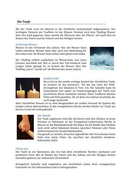 Taufsprüche In Auswahl Evangelische Kirchengemeinde Plattling