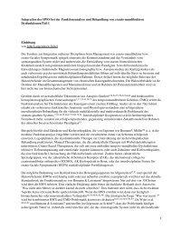 Integration der HWS bei der Funktionsanalyse und ... - Spitta