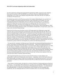 DGI-APW-Curriculum Implantatprothetik und Zahntechnik ... - Spitta