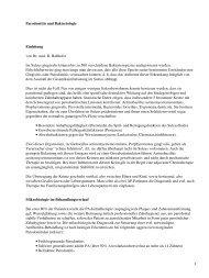 Parodontitis und Bakteriologie Einleitung von Dr. med. R ... - Spitta
