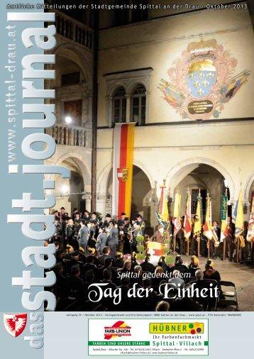 Ausgabe Oktober - Stadtgemeinde Spittal an der Drau