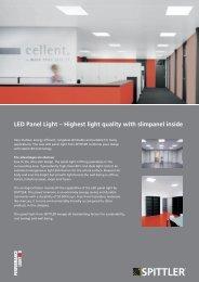 LED Panel Light – Highest light quality with slimpanel inside - Spittler