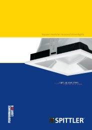 Square modular recessed downlights - SPITTLER Lichttechnik GmbH