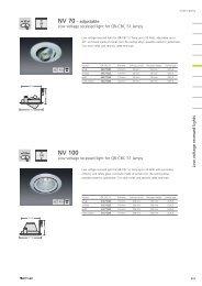 LV recessed lights NV 100 - Spittler