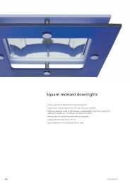 Square recessed downlights - Spittler