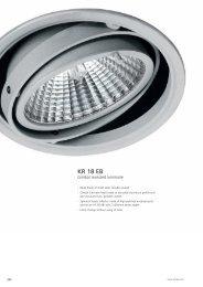 Gimbal recessed Luminaires KR 18 EB