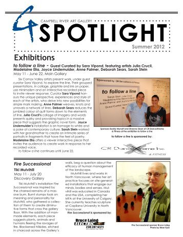Our Current Newsletter - Campbell River Art Gallery