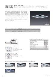 Square modular recessed downlight DM 260 eco - Spittler
