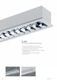 Continuous mounted recessed Luminaire SL 650 - Spittler