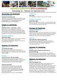veranstaltungstipps spitz & umgebung - Spitz in der Wachau