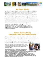 Wachauer Marille Spitzer Marillenkirtag Das größte Fest unserer ...
